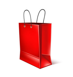 red shopping bag for black friday poster vector image