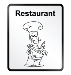 Restaurant Information Sign vector image