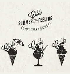 Retro vintage style Ice Cream design vector