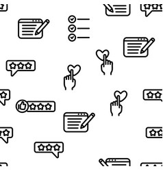 Reviews seamless pattern vector