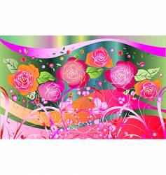 rose fantasia vector image