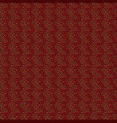 seamless pattern with simple stars vintage vector image