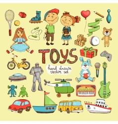 set cartoon toys vector image