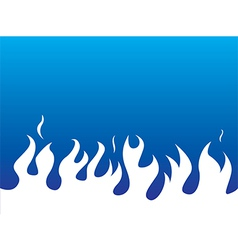 Simple white flames background vector