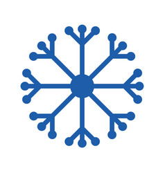 snowflake glyph icon vector image