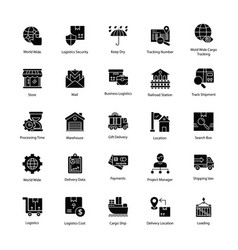 Stimulating logistics delivery icons vector