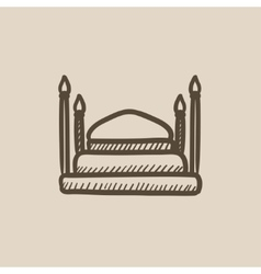 Taj Mahal sketch icon vector
