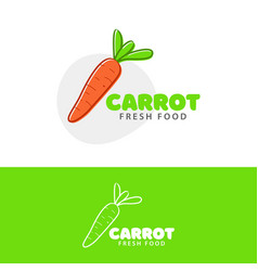 template logo for carrot fresh food vector image