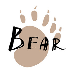 The paw print of a bear vector