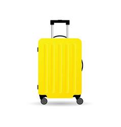Travel bag yellow vector