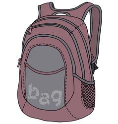 Violet kitbag vector