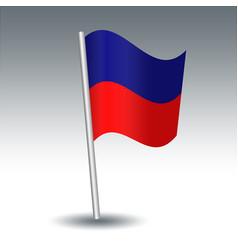 Waving maritime signal flag e echo on slanted vector