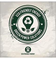 alternative eco energy stamp vector image