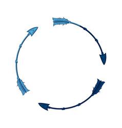 blue free spirit arrow rustic tribal decoration vector image