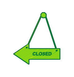 closed sign lemon scribble vector image vector image