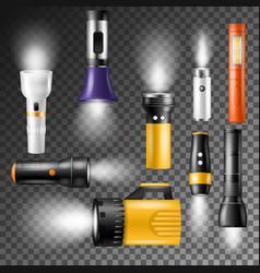 Flashlight flash-light lighting with vector