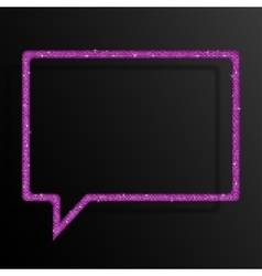 Frame Pink Sequins Speech Bubble Sparkle Stars vector image vector image