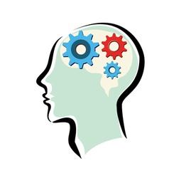 human brain thinking process vector image vector image