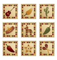 Mexican squares vector image vector image