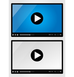 Video player for web - Set vector image vector image