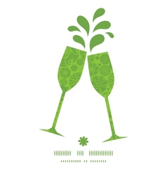 abstract green and white circles toasting wine vector image