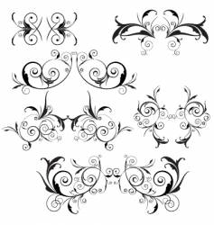 floral trims vector image vector image