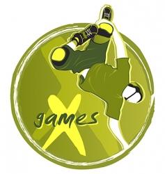 games symbol vector image vector image