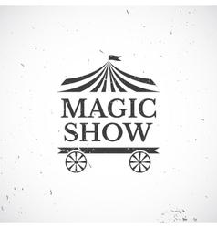 Circus vintage badge vector image vector image