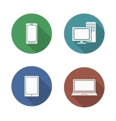 Computer electronics icons set vector image