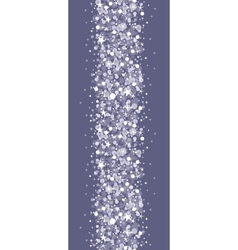 Silver sparkles vertical seamless pattern vector image