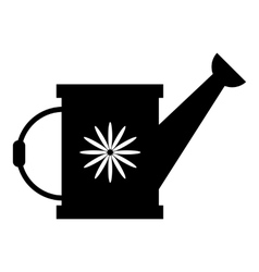 Watering can icon simple style vector image