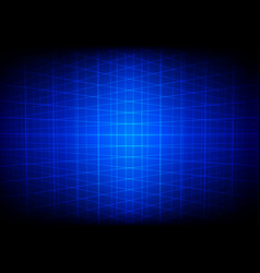 abstract blue grid perspective technology vector image vector image