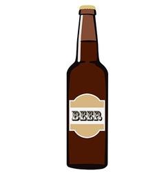 Beer bottle vector image vector image