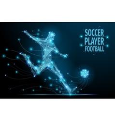 Football player polygonal vector image vector image