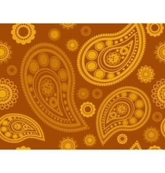 Seamless pattern in gold and yellow vector image