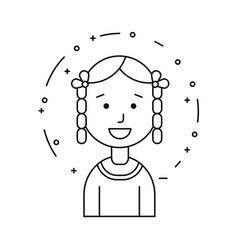 smiling girl ethnic character vector image