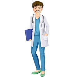 A male physician vector