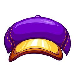 A violet cap vector