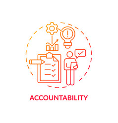 Accountability red gradient concept icon vector
