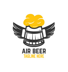 air beer logo vector image
