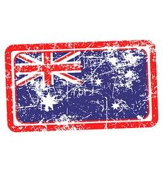 Australia flag red grunge rubber stamp vector