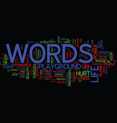 awesome power words text background word vector image