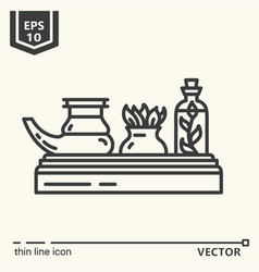 ayurvedic supplies - icon series vector image