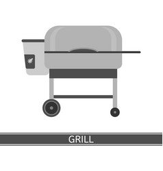 Barbeque grill icon vector