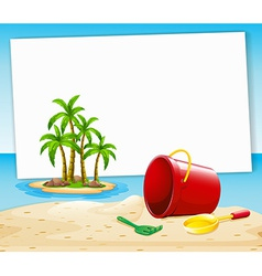Beach and sign vector image