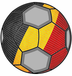 Belgium flag with soccer ball background vector
