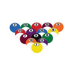 billiard balls triangle vector image