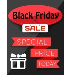 Black Friday Sale flayer vector image