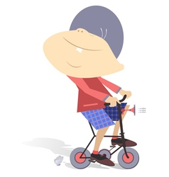 Boy on the bike vector