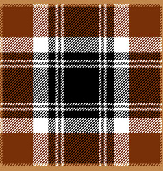 Brown tartan plaid seamless pattern vector